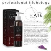 Alfa block shampoo with 1% Kopyrrol