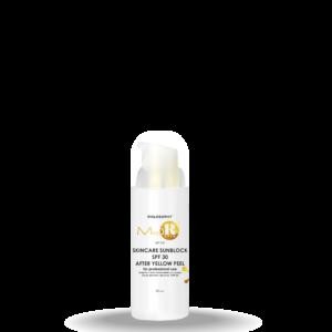 Skincare SunBlock SPF 30 after yellow peel
